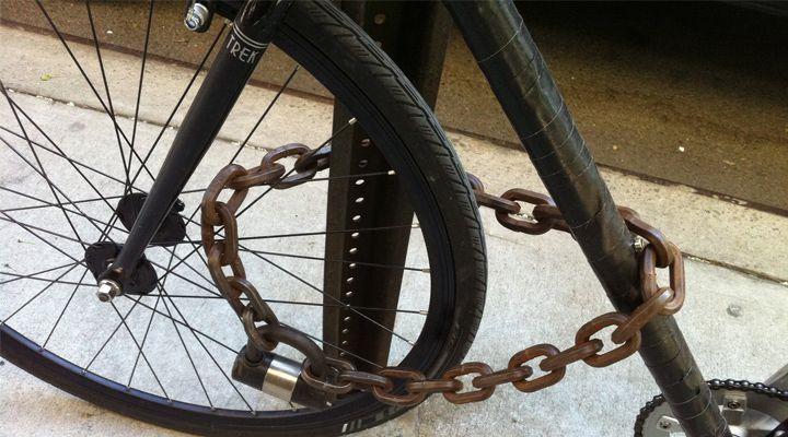 велозамок из цепи