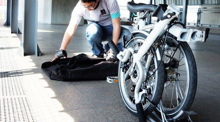 складной велосипед собран