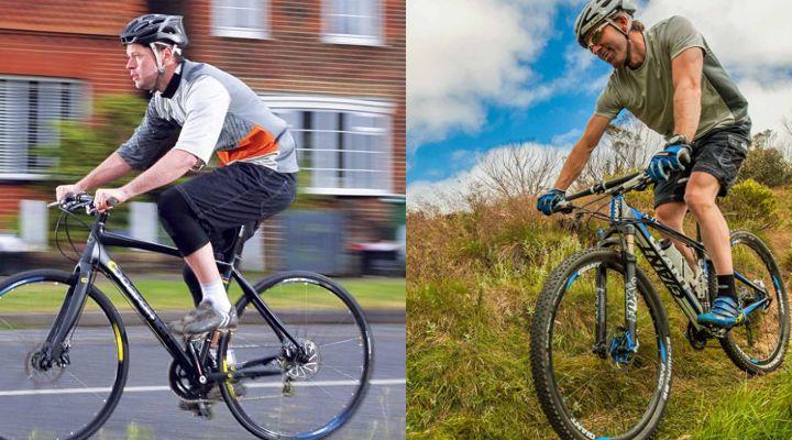 катание на велосипеде по городу и в горах