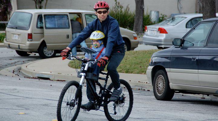 переднее велокресло